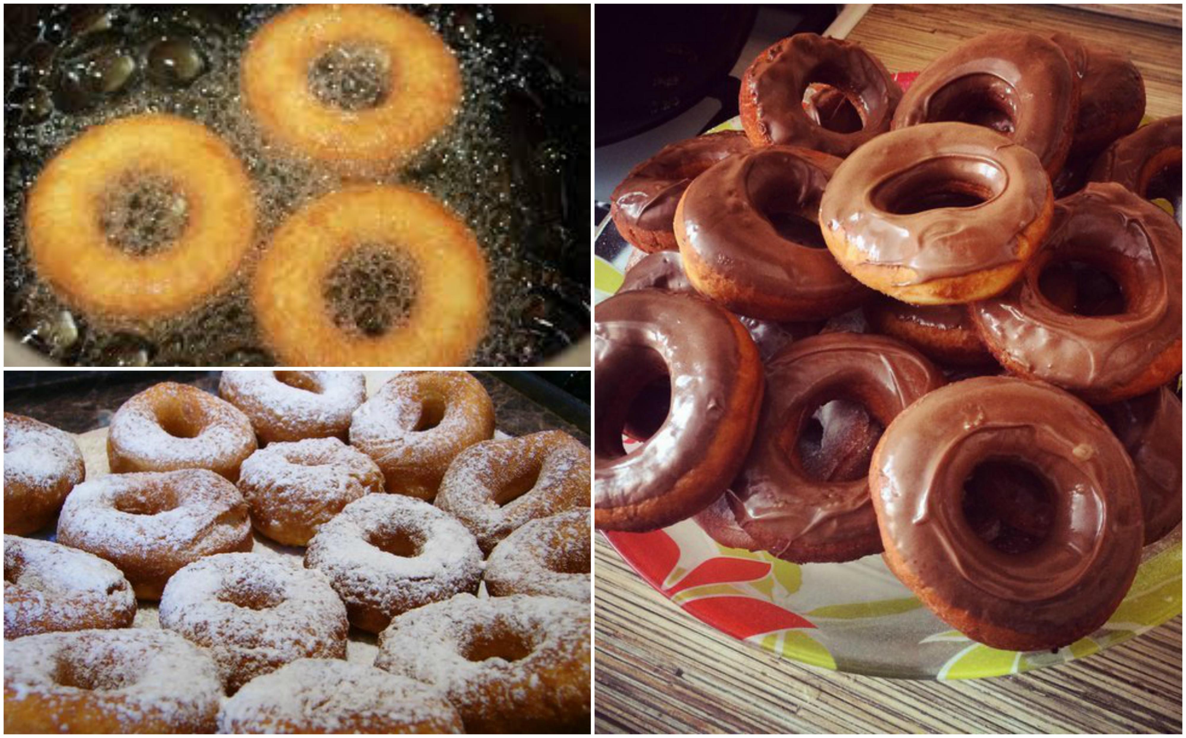 Рецепт пончиков без дрожжей в домашних условиях на сковороде